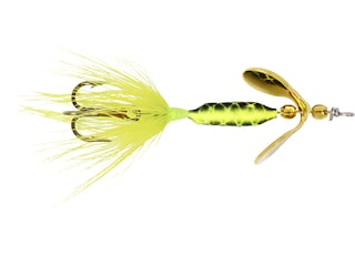Worden's Rooster Tail 202 Inline Spinner 1/32oz Chartreuse Bronze