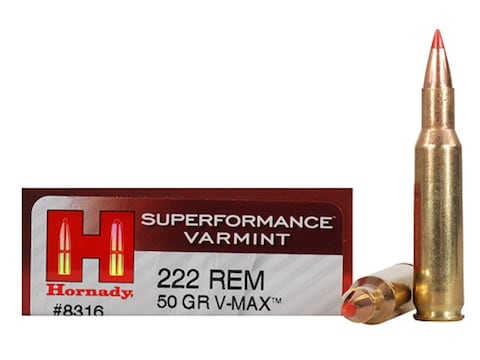 Hornady Superformance Varmint Ammunition 222 Remington 50 Grain V-MAX Box of 20