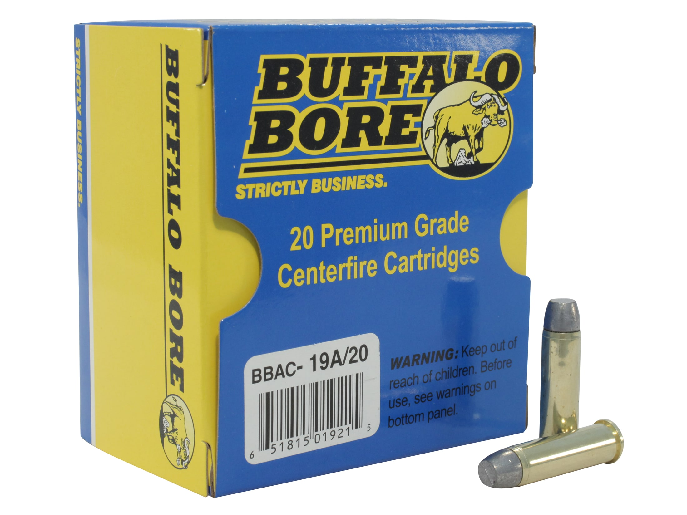 Buffalo Bore Ammo Outdoorsman 357 Mag 180 Grain Lead Flat Nose Gas