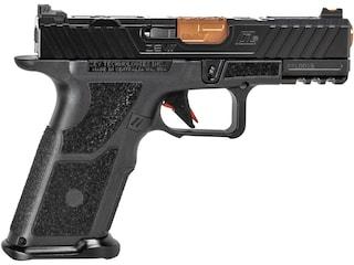 """ZEV Technologies OZ9c Elite X Semi-Automatic Pistol 9mm Luger 4"""" Bronze Barrel Polymer Black Frame Black Slide 17+1-Round"""