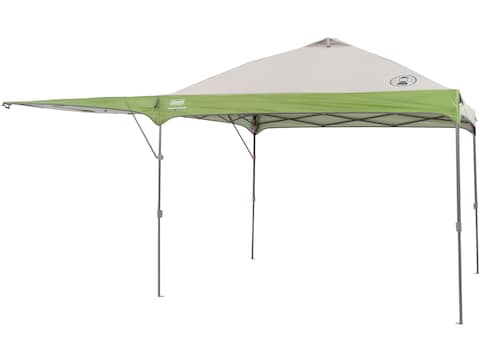 """Coleman Instant Shelter 120""""x192"""" with Swing Wall Polyester White and Green"""