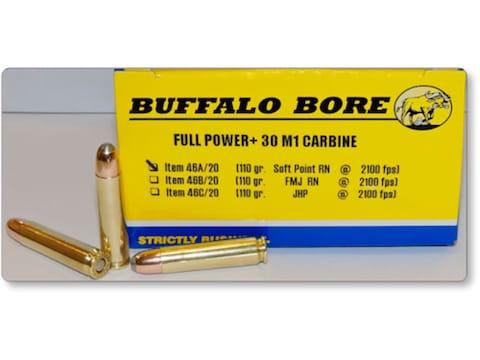 Buffalo Bore Ammunition 30 Carbine 110 Grain Soft Point Box of 20