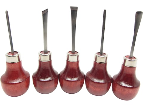 Ramelson 107R 5-Piece Small Woodcarving Tool Set with Palm-Style Handles
