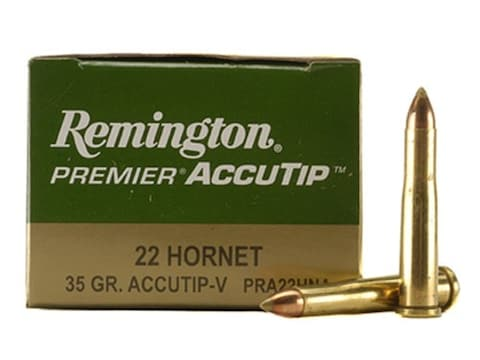 Remington Premier Varmint Ammunition 22 Hornet 35 Grain AccuTip Boat Tail Box of 50