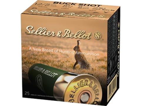 """Sellier & Bellot Ammunition 12 Gauge 2-3/4"""" #1 Buckshot 12 Pellets"""