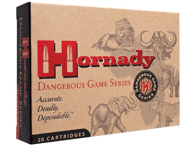Hornady Dangerous Game Ammunition 470 Nitro Express 500 Grain DGX Bonded Box of 20