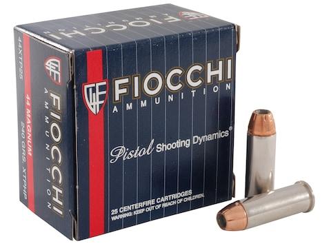 Fiocchi Extrema Ammunition 44 Remington Magnum 240 Grain Hornady XTP Jacketed Hollow Po...