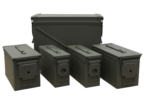 U.S. Ballistics Mil-Spec Ammo Can 5-Can Combo Pack 20mm, 50 and 30 Caliber