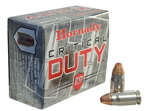 Hornady Critical Duty Ammunition 357 Sig 135 Grain FlexLock Box of 20