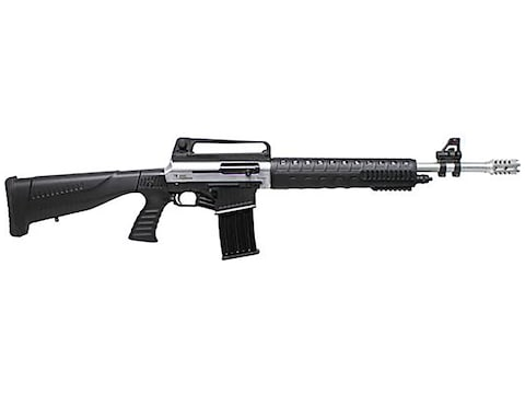 "Iver Johnson Stryker AR-Style 12 Gauge Semi-Automatic Shotgun 20"" Barrel Nickel and Bla..."