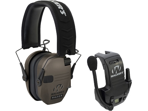 Walker's Razor Slim Low Profile Electronic Earmuffs (NRR 23dB) Flat Dark Earth with Fre...