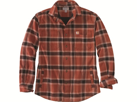 Carhartt Men's Rugged Flex Relaxed Fit Fleece Lined Flannel Long Sleeve Shirt