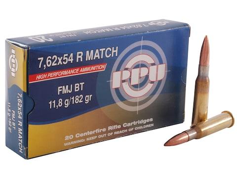 Prvi Partizan Match Ammunition 7.62x54mm Rimmed Russian 182 Grain Full Metal Jacket Box...