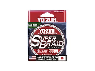 Yo-Zuri Superbraid Braided Fishing Line 10lb 300yd Dark Green
