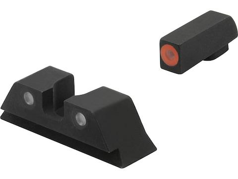 Meprolight Hyper-Bright Night Sight Set S&W M&P Shield Steel Matte 3-Dot Tritium Green ...