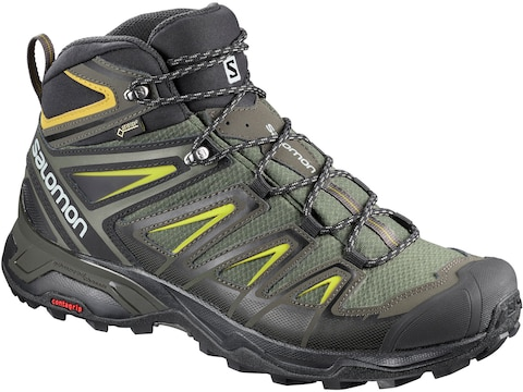"""Salomon X Ultra 3 Mid GTX 6"""" GORE-TEX Hiking Boots Leather/Synthetic Men's"""