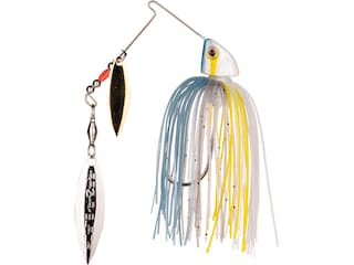 Strike King Baby Burner Double Willow Spinnerbait 1/4oz Sexy Shad Gold/Nickel