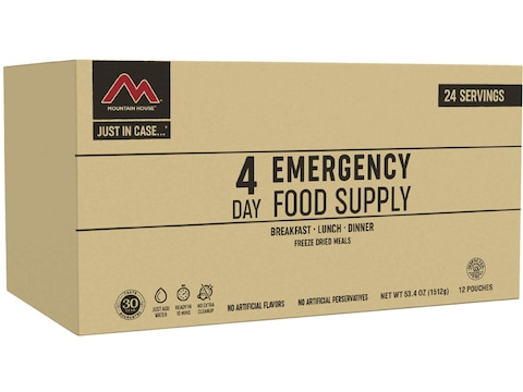 Mountain House Just in Case 4-Day Emergency Kit Freeze Dried Food 24 Serving