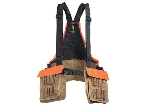 Browning Pheasants Forever Upland Game and Bird Strap Vest Polyester Field Tan and Blaz...