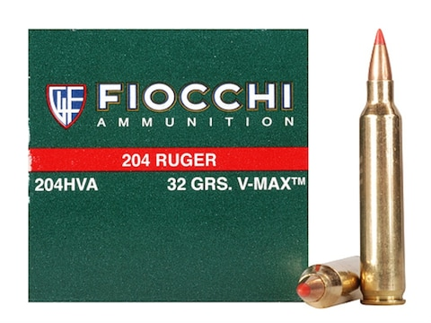 Fiocchi Extrema Ammunition 204 Ruger 32 Grain Hornady V-MAX Box of 50