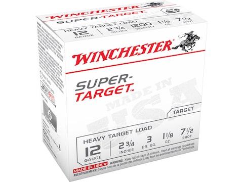 "Winchester Super-Target Ammunition 12 Gauge 2-3/4"""