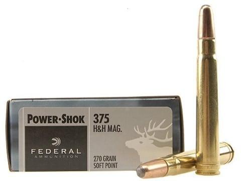 Federal Power-Shok Ammunition 375 H&H Magnum 270 Grain Soft Point Box of 20