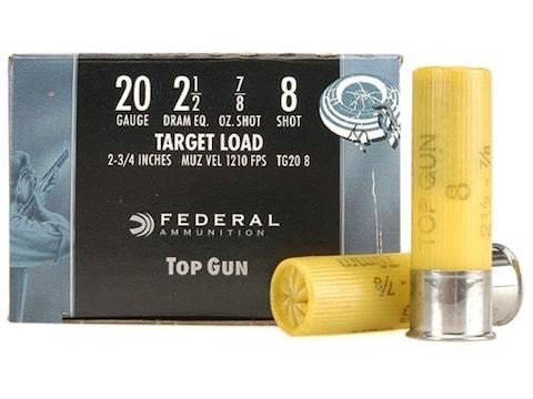 "Federal Top Gun Ammunition 20 Gauge 2-3/4"" 7/8 oz"