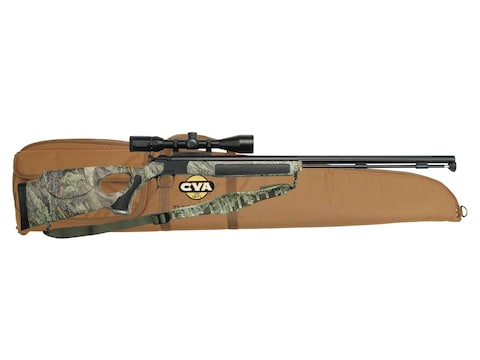 "CVA Accura V2/LR Muzzleloading Rifle with KonusPro 3-10 x44mm Scope 30"" Fluted Nitride ..."