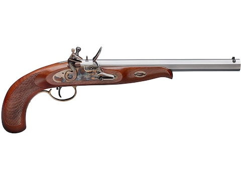 "Pedersoli Continental Target Muzzleloading Pistol 45 Caliber Flintlock 11"" Chrome Barre..."