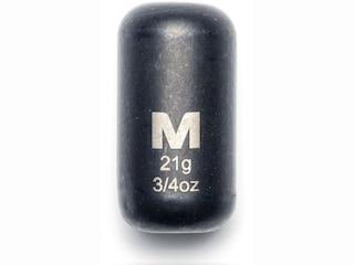 Mustad Carolina Weight 3/4oz Tungsten Black 1Pk