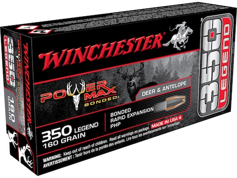 Winchester Power Max Bonded Ammunition 350 Legend 160 Grain Protected Hollow Point