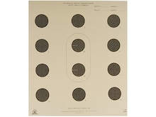 NRA Official Smallbore Rifle Targets A-32 50' Light Rifle Paper Pack