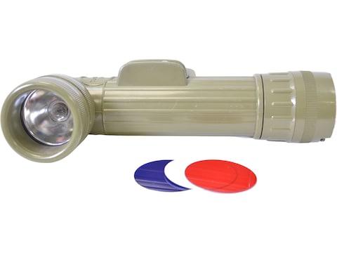 Military Surplus Belgian Angled Flashlight Grade 2 Olive Drab