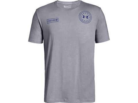Under Armour Men's Freedom by Air Short Sleeve T-Shirt Charged Cotton