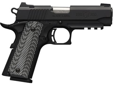 Browning 1911-380 Black Label Pro Pistol 380 ACP with Rail Night Sights 8-Round Black w...