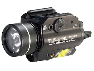 Streamlight TLR-2 HL Weapon Light LED with Red Laser and 2 CR123A Batteries Fits Picatinny or Glock-Style Rails Aluminum Matte