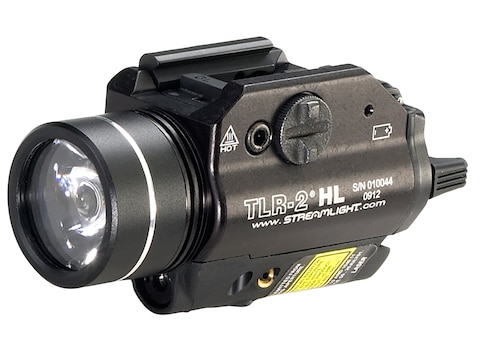 Streamlight TLR-2 HL Weapon Light LED with Red Laser and 2 CR123A Batteries Fits Picati...