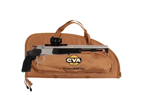 "CVA Optima V2 Muzzleloading Pistol with Konus Sight Pro Dot 50 Caliber 14"" Stainless St..."