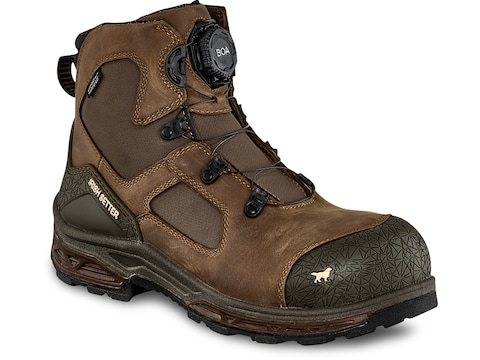 "Irish Setter Kasota BOA Non-Metallic Safety Toe 6"" Work Boots Leather Men's"