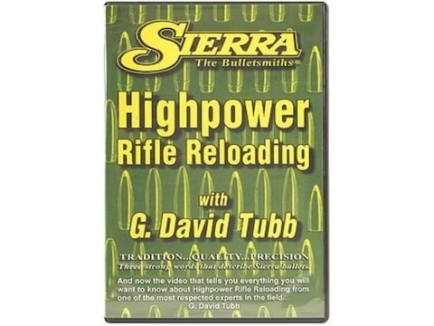 """Sierra Video """"High-Power Rifle Reloading"""" with G. David Tubb DVD"""