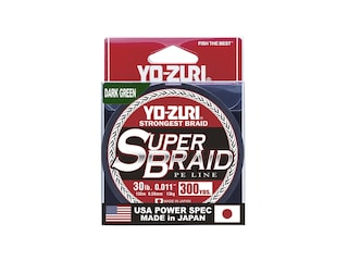 Yo-Zuri Superbraid Braided Fishing Line 30lb 300yd Dark Green
