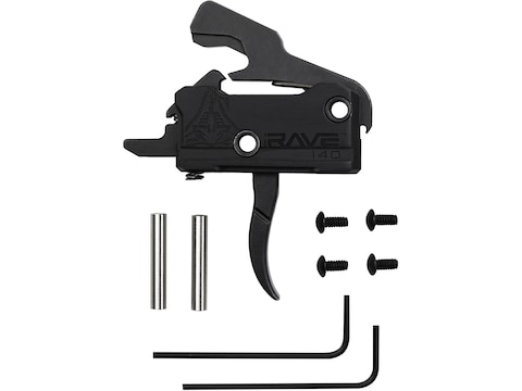 Rise Armament Rave 140 Drop-In Trigger Group w/ Anti Walk Pins AR-15 Single Stage Black