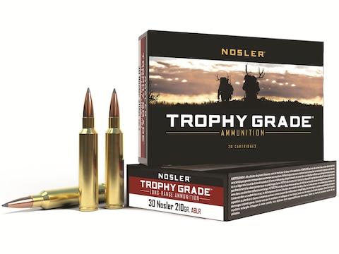 Nosler Trophy Grade Ammunition 30 Nosler 210 Grain AccuBond Long Range Box of 20