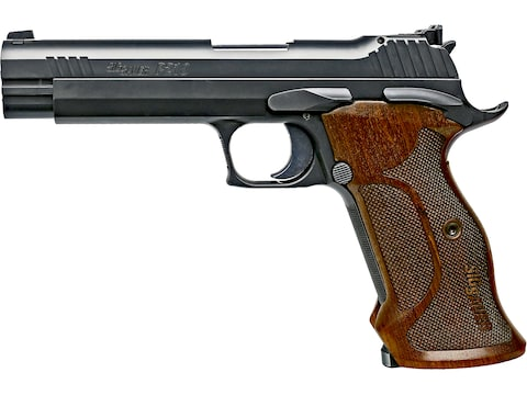 "Sig Sauer P210 Target Pistol 9mm Luger 5"" Barrel Adjustable Sights 8-Round Nitron Walnut"