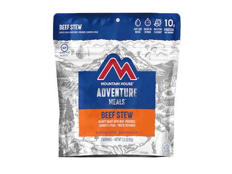Mountain House Beef Stew Gluten Free Freeze Dried Food 2 Serving