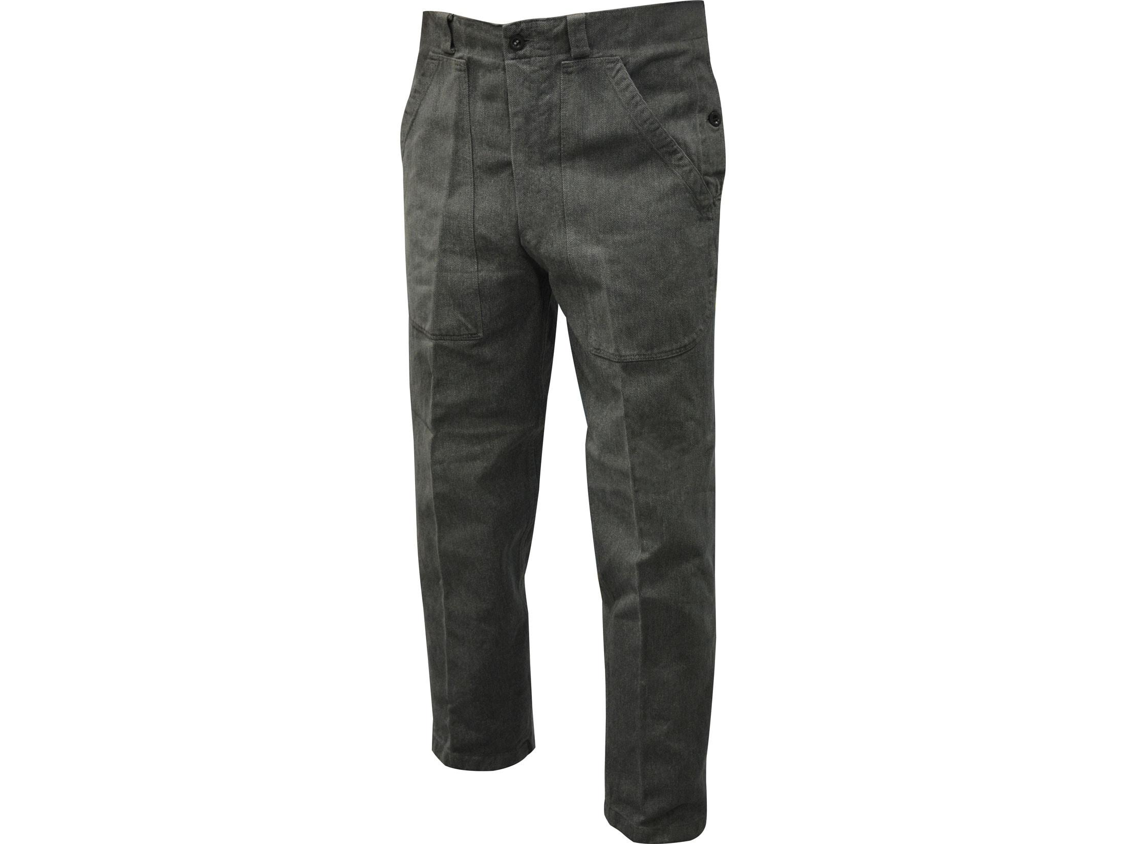 Genuine Swiss Army Grey Cotton Trousers Tough Denim Work Pants GRADE 1 or 2