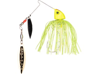 Strike King Baby Burner Double Willow Spinnerbait 1/4oz Super Chartreuse Nickel/Gold