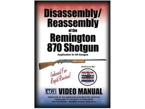 """American Gunsmithing Institute (AGI) Disassembly and Reassembly Course Video """"Remington..."""