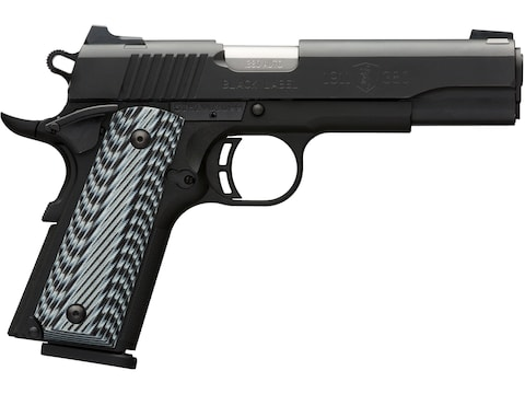 Browning 1911-380 Black Label Pro Pistol 380 ACP Night Sights 8-Round Black with G10 Grips
