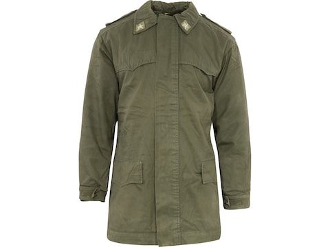 Military Surplus Italian Parka with Liner Olive Drab